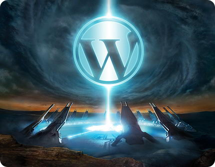 WordPress Logo in Halo